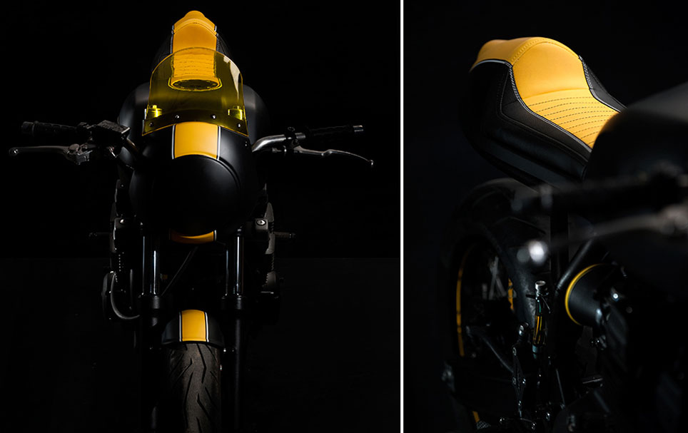 Our Project / Concept Motorcycle with Café Racer seat