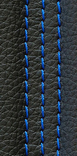 Sample of blue thread color